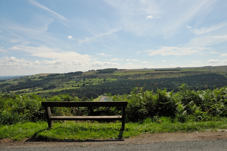The Strines viewing point no 1 looking over Howden Moors from the Strines