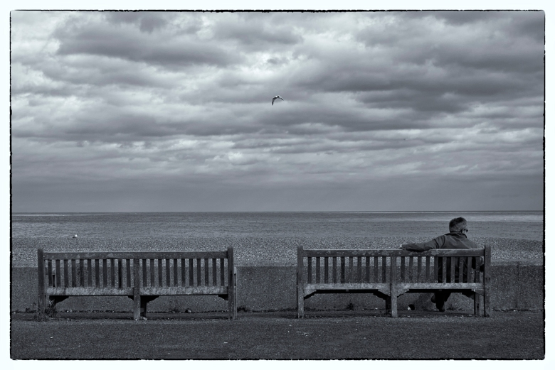 All forlorn looking out to sea
