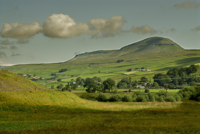 Ingleborough, one of the three peaks of Yorkshire Dales National Park.