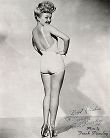 Betty Grable's famous pin-up photo