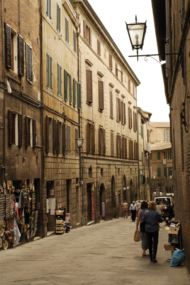 A Street Scene on our way to the centre of SIENA