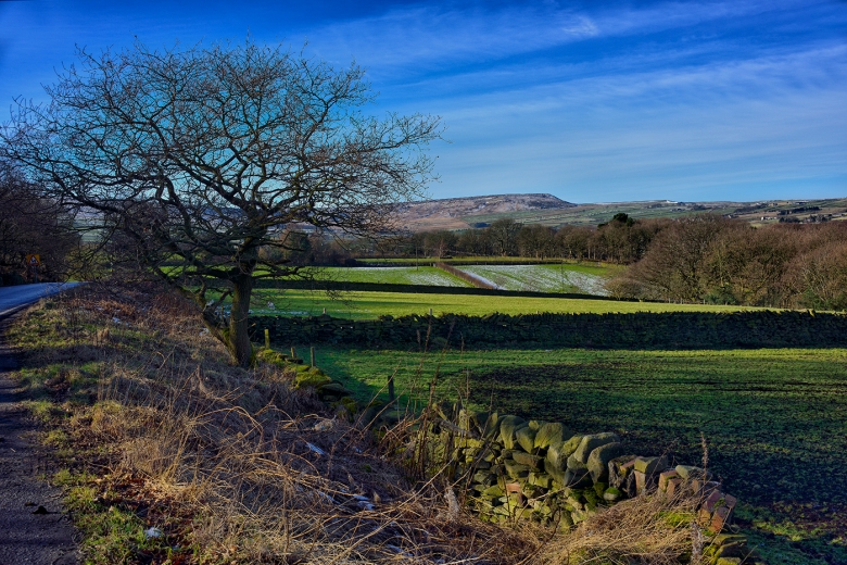 A view over Meltham and the South Pennines