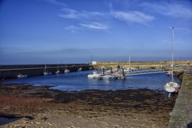 BURGHEAD harbour on the MORAY FIRTH