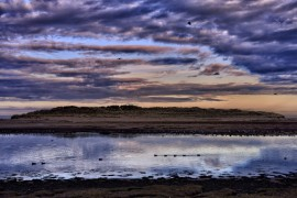 LOSSIEMOUTH. River Lossie estuary, and the sand dunes on the Moray Firth.