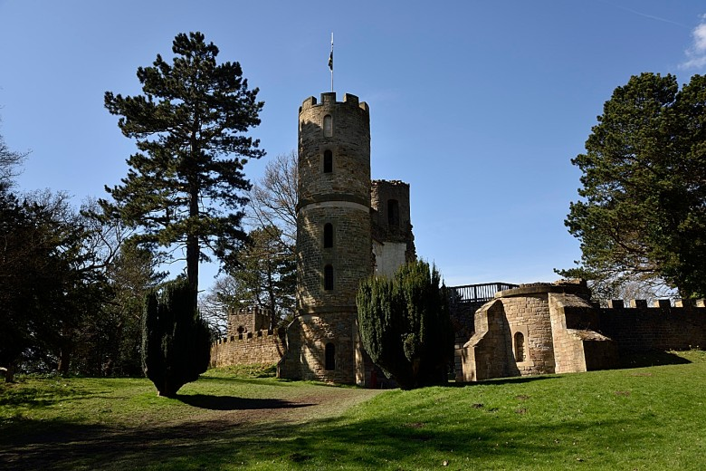 Stainborough Castle, a sham ruin constructed as a garden folly on the estate which has been in the care of the Wentworth Castle Heritage Trust since 2001