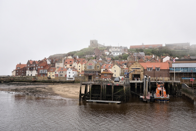 SEASCAPE Whitby harbour from the west side of the River Esk town,