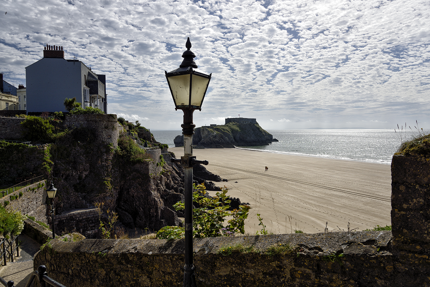 St Catherine's Island, Tenby. Taken from Castle Hill.