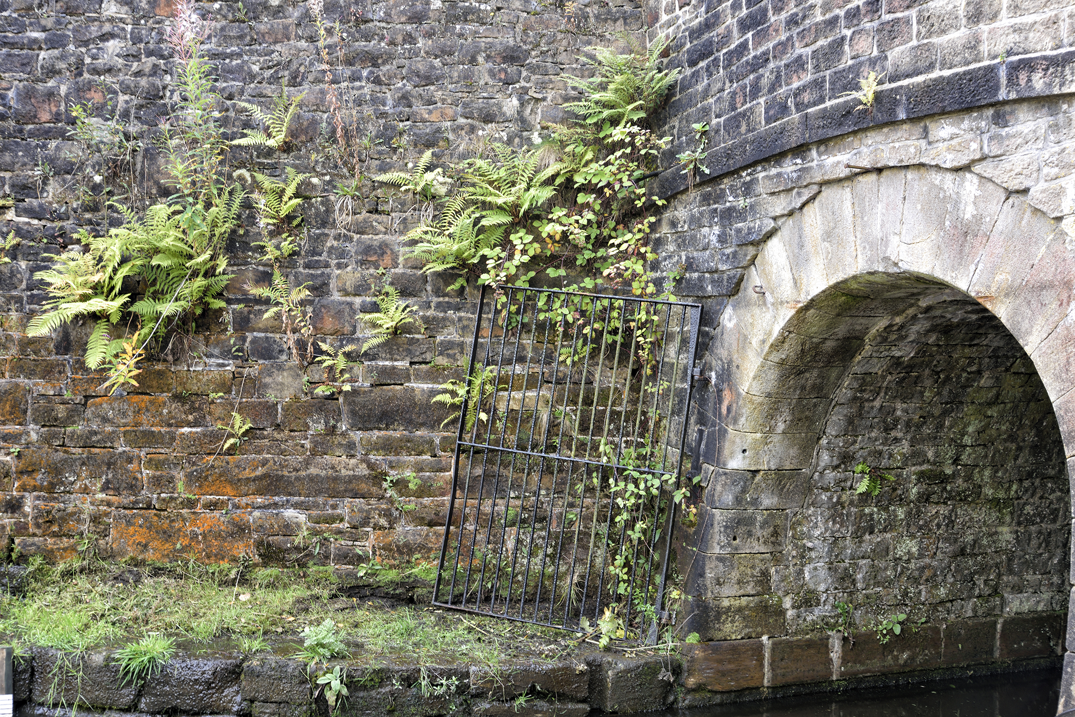 The Standedge canal Tunnels entrance, The locomotive tunnels are above and parallel